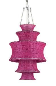 Houri Pendant in Fuchsia. Product in photo is from www.wellappointedhouse.com