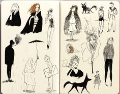 Last week i was on holiday so i draw a bit the people i saw while sitting at various café places….though some Kiki and some cavewomen sneaked in here and there in my sketchbook, thanks to my brilliant...