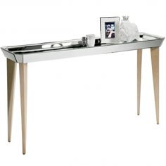Mirrored Tray Console Table by FB STUDIO side table modern home interior decor wooden iconic design metalic