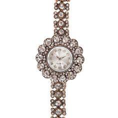 165 TL- Bayan Saat-Beyaz Swarovski Taşlı Elmas Montürlü Swarovski Bronz Saatler Takı | Yüzük, Kolye, Bileklik, Saat ve Takı Modelleri novimore.com' da