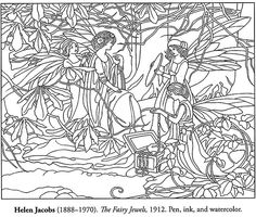 fairy jewels coloring page