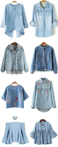 I& spent the winter months searching for all things KITSCHY. Denim Fashion, Look Fashion, Womens Fashion, Fashion Design, Jumpsuit Denim, Denim Shirt, Estilo Jeans, Casual Outfits, Cute Outfits