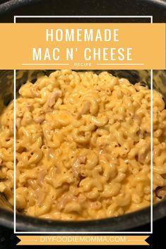 Block Velveeta Cheese Homemade Creamy and Cheesy Mac n' Cheese recipe. Ready to serve in about 30 minutes! Uses shredded and block Velveeta Cheese. Cheesy Mac N Cheese Recipe, Homemade Mac And Cheese Recipe Velveeta, Crockpot Mac N Cheese Recipe, Stovetop Mac And Cheese, Creamy Macaroni And Cheese, Velveeta Mac And Cheese Baked Recipe, Velveta Cheese Recipes, Mac N Cheese Easy, Home Made Mac And Cheese Recipe
