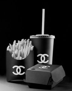 Art Funny Black And White Text Fashion Food Hipster Heart Sign Cheese Chips Burger Mcdonalds Chanel Cola Ketchup Junk Hamburger Fast Coca
