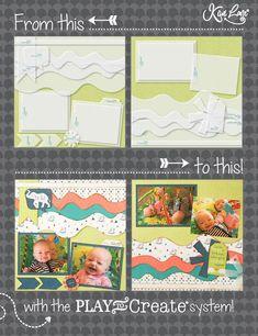 Making A Bridal Shower Scrapbook – Scrapbooking Fun! Scrapbook Examples, Baby Scrapbook Pages, 12x12 Scrapbook, Scrapbook Designs, Scrapbook Sketches, Card Sketches, Scrapbooking Layouts, Bridal Shower Scrapbook, Kiwi Lane Designs