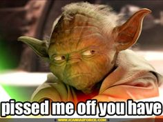 *lol... Cute yoda.. yoda fighting | star wars yoda pissed me off star wa