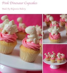 Pink Dinosaur Cupcakes Made by Belgravia Bakery