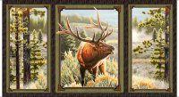 Quilting Treasures Mountain Elk 25808-X Elk Window Panel 2/3 yard
