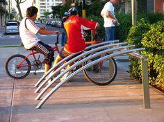 Bike Rack. Santa & Cole. Click image for source and visit the slowottawa.ca boards >> http://www.pinterest.com/slowottawa/boards/