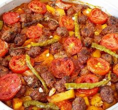 Turkish Kitchen, Ratatouille, Paella, Low Carb Recipes, Sausage, Good Food, Health Fitness, Meat, Ethnic Recipes