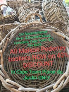 Only @ Plaisir du Jardin Cape Town ! Cape Town, Wicker Baskets, Outdoor Living, Bamboo, Gardens, Outdoor Life, The Great Outdoors, Outdoors, Woven Baskets