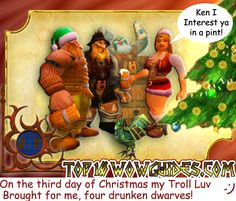 World of Warcraft by Tom Butler  Created for Top10WoWGuiges.com  On the fourth day of Christmas....  #WoW