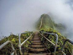 (escada de subir ao céu) no Hawai
