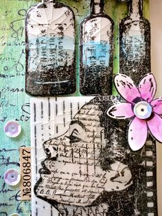 Innovative creativity from PaperArtsy. Paint, stencils, and techniques galore for any mixed media enthusiast to enjoy. Mark Making, Atc, Crayons, Summer 2016, Stencils, Coins, Scrap, Creative, Painting