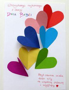 LuLaj: Laurka na dzień Babci i dzień Dziadka Christmas Card Crafts, Valentine Crafts, Valentine Day Cards, Valentines, I Love You Mum, Mather Day, Diy And Crafts, Crafts For Kids, Mothers Day Presents
