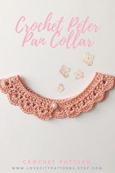 Peter Pan Collar Crochet Pattern, Lace Collar Necklace, Peter Pan Collar Dress…