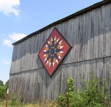 This Mariners Compass pattern is on Harrell Horse Farm located in Rogersville, TN part of Hawkins County.