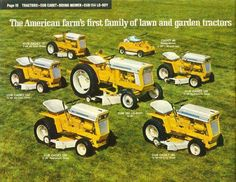 Great piece of Cub Cadet sales literature! Catch the rear engine rider in the back. Yard Tractors, Tractors For Sale, Tractor Mower, Farmall Tractors, Lawn Mower, Small Garden Tractor, Garden Tractor Pulling, Antique Tractors, Vintage Tractors