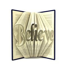 Hey, I found this really awesome Etsy listing at https://www.etsy.com/listing/254006254/book-folding-pattern-believe-296-folds