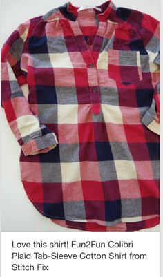 <3 Like that it looks soft, plaid, colorful