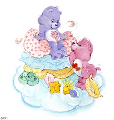 Care Bears: Share Bear and Love-a-Lot Bear Making a Pillow Fort