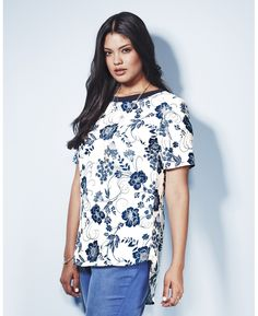 """""""Anna Scholz"""" Anna Scholz Floral Print Top at Simply Be"""
