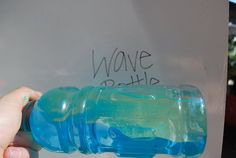 How to make Science Discovery Bottles Wave Bottle