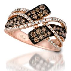 Le Vian Ring with .60CTW Diamonds in 14K Strawberry Gold #levian #gold #diamonds #strawberrygold #jewelry #ring