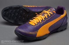 04c24e5d75 Puma Football Boots - Puma evoSPEED 5.2 TT - Astro Turf - Soccer Cleats -  Blackberry Cordial-Flourescent Orange