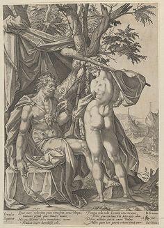 Hercules and Omphale, Artist: After Bartholomeus Spranger (Netherlandish, Antwerp 1546–1611 Prague) Date: 1590