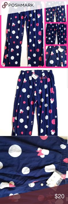 Disney Parks Women's Pants Minnie Mouse Polka Dot Disney Parks Women's Pants Minnie Mouse Polka Dot Lounge Pajama Sleep   Size XS     Condition: NWT    My items come from a smoke-free household, we do have a kitty, so an occasional hair may occur! Disney Intimates & Sleepwear Pajamas