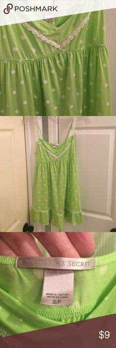 Victoria's Secret chemise. Sz S. Victoria's Secret chemise. Sz S. Adorable Polka dot pattern. Adjustable straps. EUC. 92% modal/7% spandex. Smoke/pet free home. Victoria's Secret Intimates & Sleepwear Chemises & Slips
