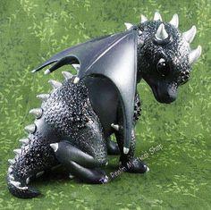 Onyx Baby Dragon Figurine Jasmine Becket-Griffith