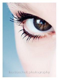 Love beautiful eye close-ups!