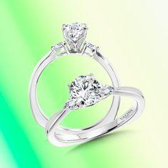 This modern engagement ring is a sleek minimalistic take on the classic three-stone engagement ring.#Valina #diamonds #bridaltrends #perfectwedding #ringbling #bridal #bridetobe #engagementringideas #diamondrings #bridalcouture #engagementrings #dreamring #weddingdreams #perfectwedding #bridetobride #bridalcouture #threestones #threestoneengagementring #minimalisticjewelry #minimalisticfashion #foreverandalways #modernengagementring #solitaire #soliatireengagamentring #truelove Pear Diamond Engagement Ring, Classic Engagement Rings, Three Stone Engagement Rings, Diamond Rings, Dream Ring, Minimalist Jewelry, Perfect Wedding, Fine Jewelry, Diamonds