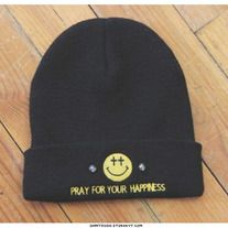 Pray for your happiness beanie  From OHMYGOSH on Storenvy.