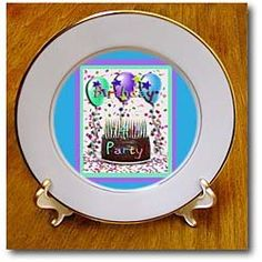 14th Birthday Party Invitation Chocolate Cake - 8 Inch Porcelain Plate $34.99