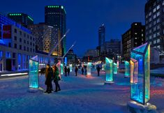 RAW transforms downtown montreal into prismatic kaleidoscope - designboom | architecture