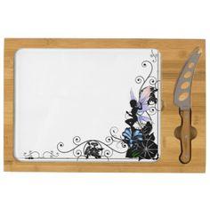 Morning Glory Shadow Fairy Cheese Board  $74.00  by Rockangel3  - cyo customize personalize unique diy idea