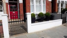 white brickwork front garden - Google Search