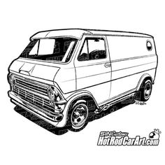 s Ford Hot Rod by autoconcept on DeviantArt Ford Econoline Van, Cool Car Drawings, Cars Coloring Pages, Van Car, Cool Vans, Ford Classic Cars, Car Illustration, Arte Horror, Car Sketch