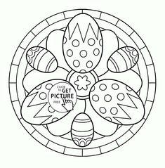 Easter Mandala Coloring Pages. 20 Easter Mandala Coloring Pages. Printable Easter Mandala Coloring Pages Free Easter Egg Easter Coloring Pages Printable, Easter Egg Coloring Pages, Cool Coloring Pages, Mandala Coloring Pages, Coloring Pages To Print, Coloring Books, Easter Bunny Colouring, Easter Art, Painting