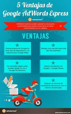 5 ventajas de Google AdWords Express #infografia #infographic #marketing