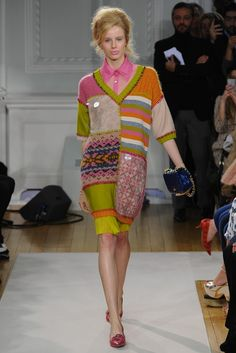 moschino 2012; love the recycled nature, but the overstitching should be more embroidered.