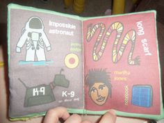 Doctor who baby book (material from spoonflower)