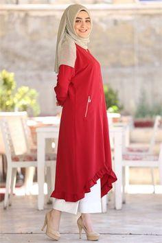 BERAY 5370 ETEGİ FIRFIRLI CEP DETAYLI KAP-Bordo Muslim Fashion, Hijab Fashion, Diy Fashion, Fashion Outfits, Womens Fashion, Hijab Casual, Hijab Style, Abaya Designs, Hijab Dress