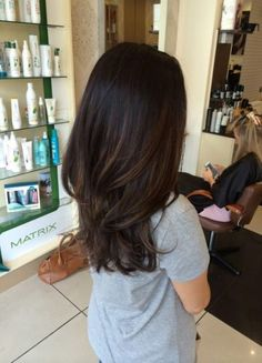 Long Wavy Ash-Brown Balayage - 20 Light Brown Hair Color Ideas for Your New Look - The Trending Hairstyle Brown Hair Balayage, Balayage Brunette, Hair Color Balayage, Hair Highlights, Ombre Hair, Color Highlights, Bayalage On Dark Hair, Dark Brunette Hair, Caramel Highlights