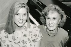 Marian McPartland (right) and Diana Krall 1994