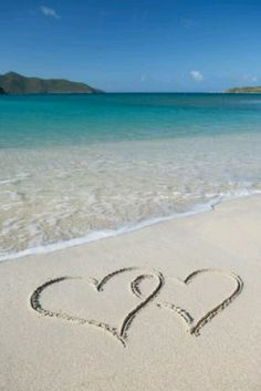 beach hearts -- reminds me of finding a heart-shaped shell on the beach in Ft. Lauderdale at Leader Conference one year! :)