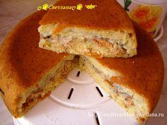 Пирог с консервированной горбушей горбушей